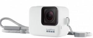 Силиконовый чехол с ремешком GoPro Sleeve & Lanyard White (ACSST-002)