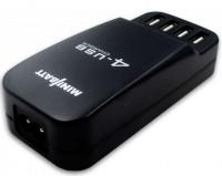 Сетевое зарядное устройство MiniBatt 4 Way Port USB Black (MB-ADP 4 USB)