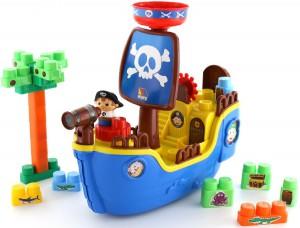 Набор Molto-Polesie 'Пиратский корабль' + конструктор 30 элементов (62246)