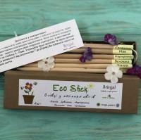Подарок Набір 6 кольорових олівців Brinjal 'Ecostick': чарівні олівці з насінням квітів