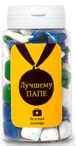 Подарок Жевательная резинка Вкусная помощь 'Лучшему ПАПЕ' 150 мл.
