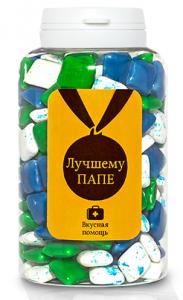 Подарок Жевательная резинка Вкусная помощь 'Лучшему ПАПЕ' 250 мл.