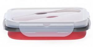 Подарок Ланчбокс силиконовый складной красный (md14167)