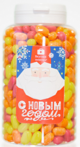Подарок Конфеты Вкусная помощь 'С Новым Годом Дед Мороз' 250 мл.