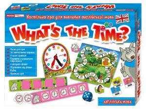 Настільна гра для вивчення англійської мови 'Гра в питання. Котра година? (13109072У)