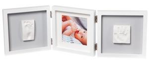фото Рамочка Baby Art 'Тройная с отпечатками Белая New' (3601097200) #3