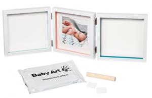 фото Рамочка Baby Art 'Тройная с отпечатками Белая New' (3601097200) #4