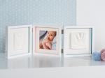 фото Рамочка Baby Art 'Тройная с отпечатками Белая New' (3601097200) #2
