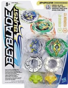 Игровой набор Hasbro Beyblade Burst 2 в 1: волчки 'Kerbeus K2 Кербеус' и 'Yegdrion Y2 Егдрион' (B9491/C0597)