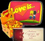 Подарочный набор Love is... 'Любимой' (суперкомплект из 3 предметов)