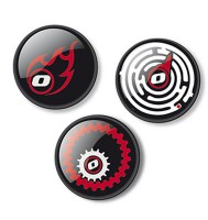 Комплект значков Nikidom Fire  для Roller и Roller XL  3шт (NKD-9103)
