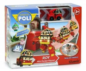 Игровой набор Robocar Poli 'Гараж с мини трансформером Роем' (83364)