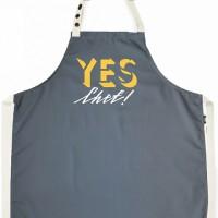 Подарок Фартук Gifty из саржи Yes, chef! Grey (8624)