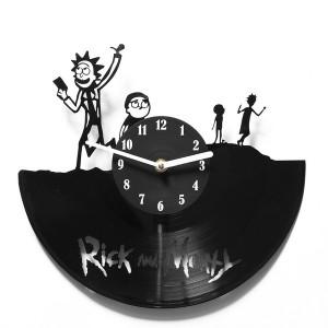 Подарок Настенные часы из винила 'Rick and Morty' (V 204)