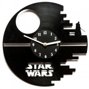 Подарок Настенные часы из винила 'Star Wars: Death Star' (V 136)