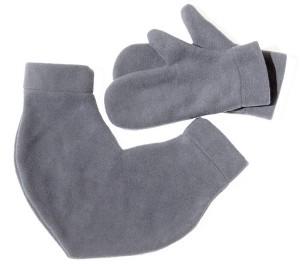 Подарок Варежки для влюбленных ,цвет серый (12812)