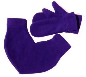 Подарок Варежки для влюбленных ,цвет фиолетовый (12813)