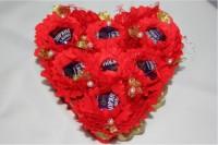 Подарок Букет из конфет 'Влюбленное сердце' (229-18410232)