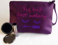 Подарок Косметичка с вышивкой 'Yes, but first makeup' (149-14621967)