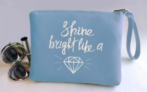 Подарок Косметичка с вышивкой 'Shine bright like a Diamond' (149-14621960)