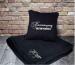 Подарок Набор подушка и плед с вышивкой 'Настоящему мужчине!' Черный (100-9721977)