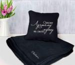 Подарок Набор подушка и плед с вышивкой 'Самому лучшему мужу на свете!' Черный (100-9721971)