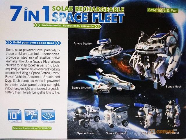 Конструктор на солнечной батарее Cute Sunlight 'Space fleet' 7 в 1