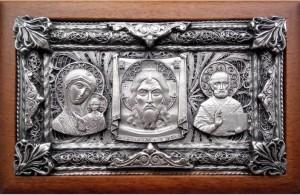 Подарок Триптих автомобильный, серебро (0104007004)
