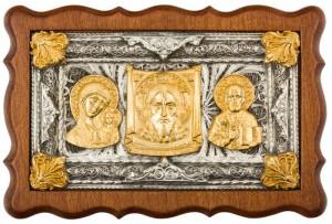 Подарок Триптих автомобильный, серебро, золото (0104007005)