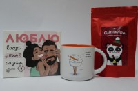 Подарок Подарочный набор 'Шоколад + пряности для глинтвейна + чашка' (суперкомплект из 3 предметов)