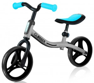 Беговел Globber 'Go Bike' серебристо-синий (610-190)