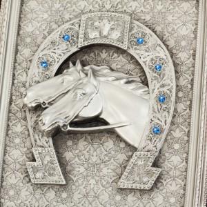 фото Коллаж 'Подкова с лошадьми' #3