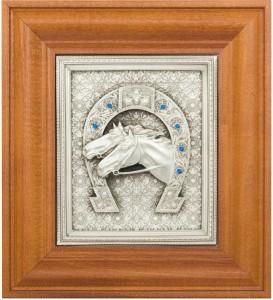 Подарок Коллаж 'Подкова с лошадьми'