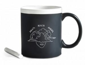 Подарок Чашка керамическая Gifty 'Любить' 320 мл, с мелком (37328)