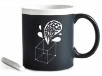 Подарок Чашка керамическая Gifty 'Keep looking '. White 320 мл, с мелком (10273)