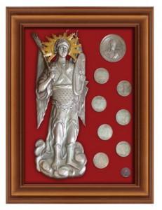 Подарок Икона Архистратиг Михаил с монетами