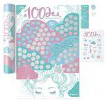 Подарок Скретч постер '#100 ДЕЛ настоящей девочки' (русский) в тубусе