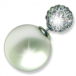 Подарок Серьги Biojoux Urban White Pearl / Crystal Ball Double Ball (BJU800)