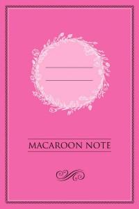 Книга Блокнот с цветными страницами 'Macaroon Note' (малина)