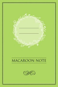 Книга Блокнот с цветными страницами 'Macaroon Note' (фисташка)