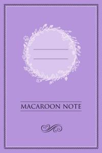 Книга Блокнот с цветными страницами 'Macaroon Note' (лаванда)