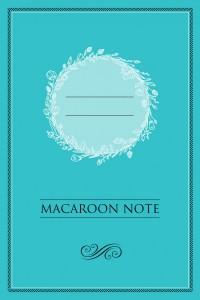 Книга Блокнот с цветными страницами 'Macaroon Note' (мята)