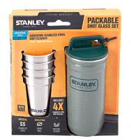 Набор туристической посуды Stanley фляга и 4 рюмки Adventure Combo, зеленый (4823082714711)