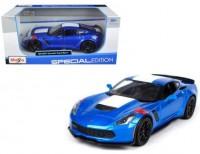 Автомодель Maisto 1:24 2017 Corvette Grand Sport синий металлик (31516 met. blue)