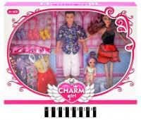 Набор кукол 'Семья' с гардеробом (092B)
