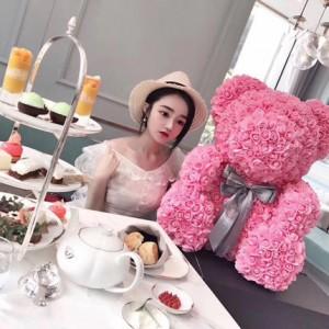 фото Мягкая игрушка UFT Bear Flowers Мишка из роз Pink 27 см (BB2) #4