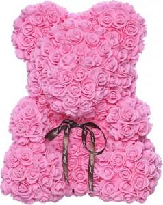 Подарок Мягкая игрушка UFT Bear Flowers Мишка из роз Pink 27 см (BB2)