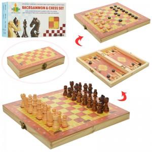 фото Шахматы деревянные `3 в 1` (1680EC) #2
