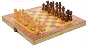 Шахматы деревянные `3 в 1` (1680EC)