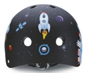 фото Шлем защитный детский GLOBBER Ракета черный (XS) (500-006) #2